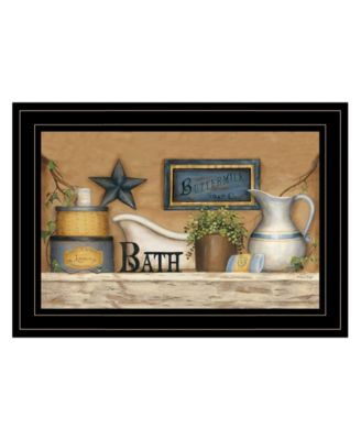 """Buttermilk Soap Co by Carrie Knoff, Ready to hang Framed print, White Frame, 14"""" x 10"""""""