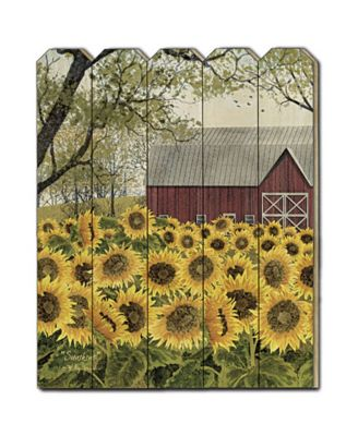 """Sunshine by Billy Jacobs, Printed Wall Art on a Wood Picket Fence, 16"""" x 20"""""""