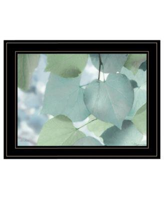 Aqua Leaves by Lori Deiter, Ready to hang Framed Print, White Frame, 21