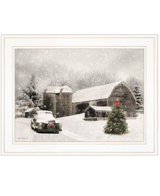 "Farmhouse Christmas by Lori Deiter, Ready to hang Framed Print, White Frame, 19"" x 15"""