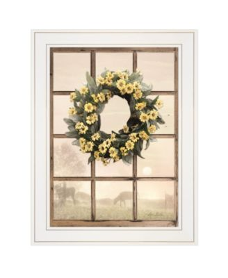 """Country Gazing by Lori Deiter, Ready to hang Framed Print, White Window-Style Frame, 15"""" x 19"""""""