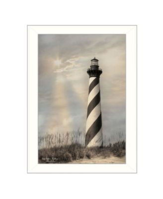 """Cape Hatteras Lighthouse By Lori Deiter, Printed Wall Art, Ready to hang, White Frame, 14"""" x 20"""""""