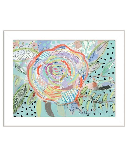 "Trendy Decor 4U Trendy Decor 4U Bloom for Yourself by Kait Roberts, Ready to hang Framed Print, White Frame, 19"" x 15"""