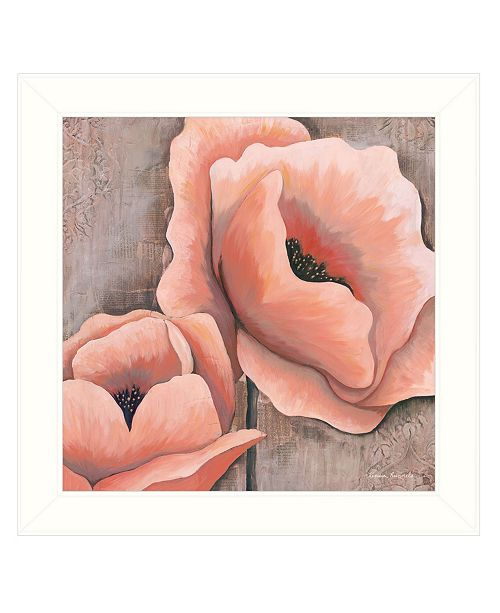 "Trendy Decor 4U Trendy Decor 4U Pink Poppies by Kenda Runnels, Ready to hang Framed Print, White Frame, 14"" x 14"""