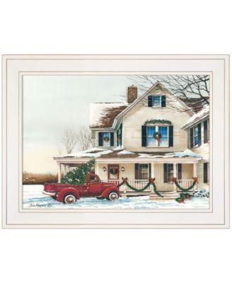 """Preparing for Christmas by John Rossini, Ready to hang Framed Print, White Frame, 19"""" x 15"""""""