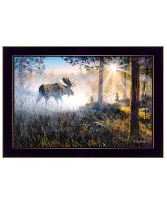"""Walk in the Mist By Jim Hansen, Printed Wall Art, Ready to hang, Black Frame, 20"""" x 14"""""""