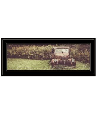 """Rusty Clearing by Justin Spivey, Ready to hang Framed Print, Black Frame, 27"""" x 11"""""""