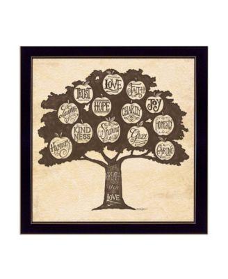 "Family Attributes I By Deb Strain, Printed Wall Art, Ready to hang, Black Frame, 14"" x 14"""