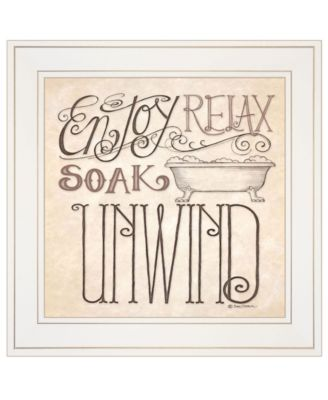"""Soak Relax by Deb Strain, Ready to hang Framed Print, White Frame, 15"""" x 15"""""""