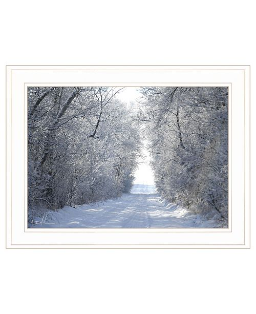 "Trendy Decor 4U Trendy Decor 4U Snow Covered I by Dale MacMillan, Ready to hang Framed Print, White Frame, 21"" x 15"""