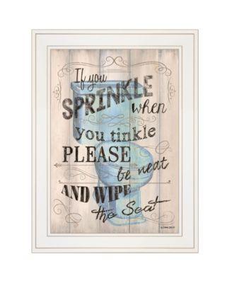 "Bathroom Humor by Debbie DeWitt, Ready to hang Framed print, White Frame, 15"" x 19"""