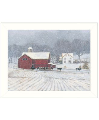 """The Home Place by Bonnie Mohr, Ready to hang Framed Print, White Window-Style Frame, 18"""" x 14"""""""