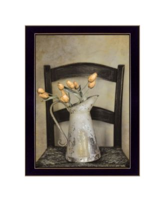 Golden Tulips by Robin-Lee Vieira, Ready to hang Framed Print, Black Frame, 14