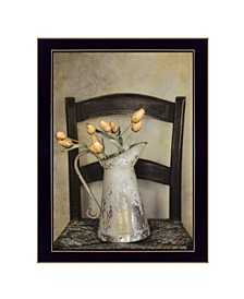 """Golden Tulips by Robin-Lee Vieira, Ready to hang Framed Print, Black Frame, 14"""" x 18"""""""