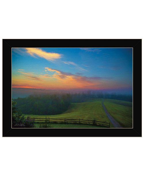 "Trendy Decor 4U Trendy Decor 4U Mornings in Appalachia by Ron Jones, Ready to hang Framed Print, Black Frame, 21"" x 15"""