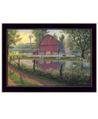 "Barnyard Memories by Kim Norlien, Ready to hang Framed Print, Black Frame, 20"" x 14"""