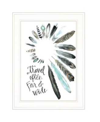 """Travel Often Far and Wide by Masey St, Ready to hang Framed print, White Frame, 15"""" x 19"""""""
