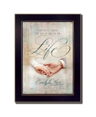 """Each Other By Mollie B., Printed Wall Art, Ready to hang, Black Frame, 14"""" x 10"""""""