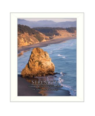 """Strength By Trendy Decor4U, Printed Wall Art, Ready to hang, White Frame, 18"""" x 14"""""""