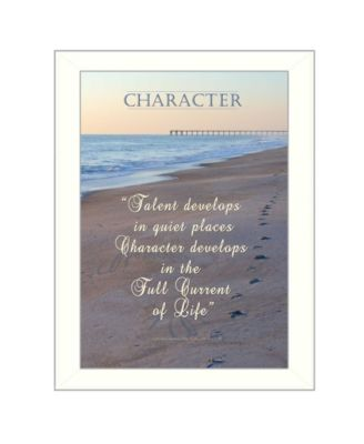 """Character By Trendy Decor4U, Printed Wall Art, Ready to hang, White Frame, 14"""" x 10"""""""