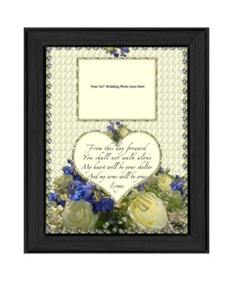From this Day By Trendy Decor4U, Printed Wall Art, Ready to hang, Black Frame, 15