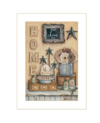 """Friends by by Mary Ann June, Ready to hang Framed Print, White Frame, 14"""" x 20"""""""