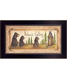 "Nature's Calling By Mary June, Printed Wall Art, Ready to hang, Black Frame, 10"" x 18"""