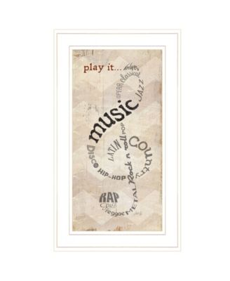 """Play It by Marla Rae, Ready to hang Framed Print, White Frame, 12"""" x 21"""""""