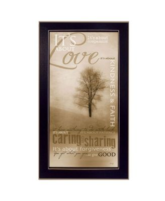 """Its About Love By Marla Rae, Printed Wall Art, Ready to hang, Black Frame, 14"""" x 26"""""""