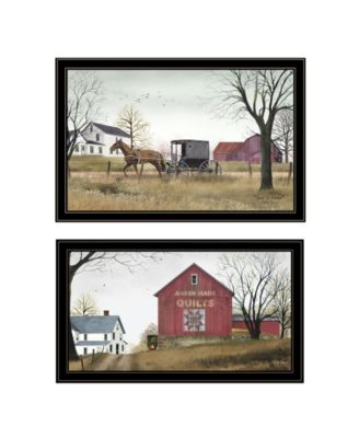 Goin to Market 2-Piece Vignette by Billy Jacobs, Black Frame, 33