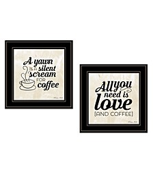 Trendy Decor 4U All You Need is Coffee 2-Piece Vignette by SUSAn Boyer Frame Collection