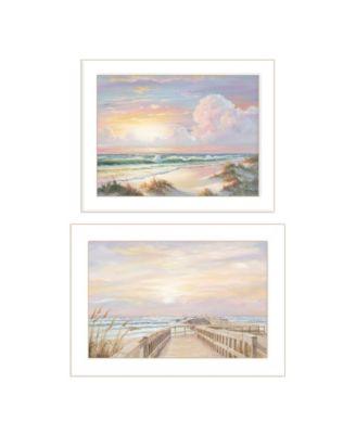 "Sunrise-Sunset 2 piece Vignette by Georgia Janisse, White Frame, 20"" x 14"""