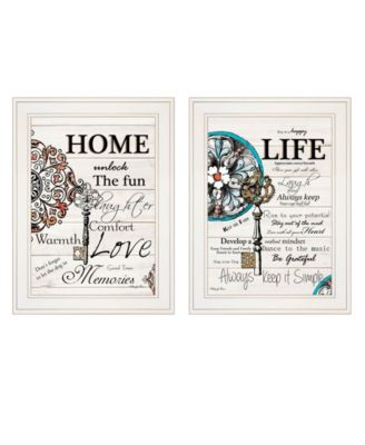 "Life / Home 2-Piece Vignette by Robin-Lee Vieira, White Frame, 15"" x 19"""