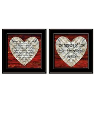 """Love is Patient / Measure 2-Piece Vignette by Cindy Jacobs, Black Frame, 15"""" x 15"""""""