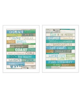"""Live in The Present Collection By Marla Rae, Printed Wall Art, Ready to hang, White Frame, 10"""" x 14"""""""