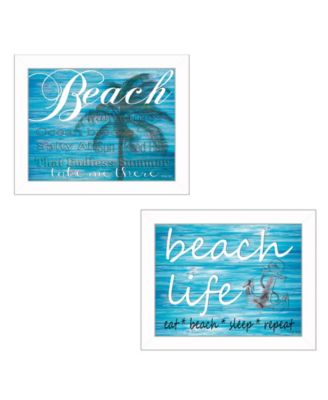 """Beach Life Collection By Cindy Jacobs, Printed Wall Art, Ready to hang, White Frame, 18"""" x 14"""""""
