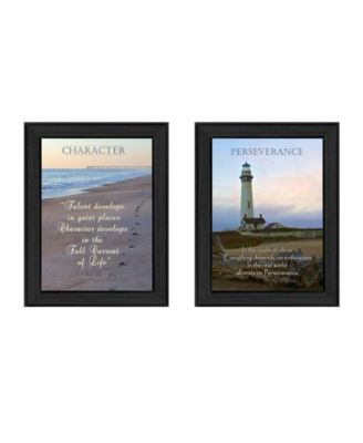 Character Collection By Trendy Decor4U, Printed Wall Art, Ready to hang, Black Frame, 20