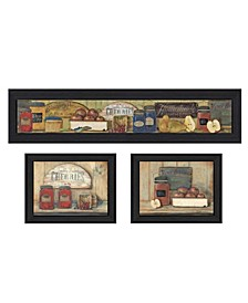 "Trendy Decor 4U Kitchen Collection By Pam Britton, Printed Wall Art, Ready to hang, Black Frame, 78"" x 15"""