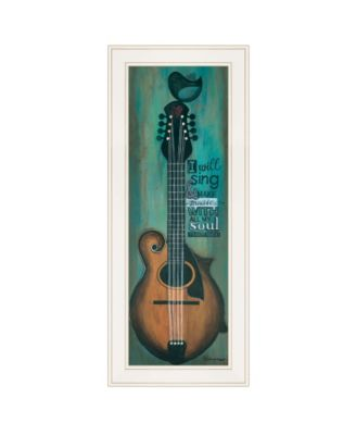 """I Will Sing by Tonya Crawford, Ready to hang Framed print, White Frame, 9"""" x 21"""""""