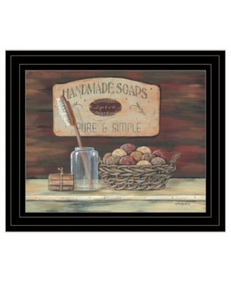 """HANDMADE SOAPS-by Pam Britton, Ready to hang Framed Print, Black Frame, 17"""" x 14"""""""