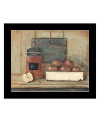Apple Butter by Pam Britton, Ready to hang Framed Print, Black Frame, 17
