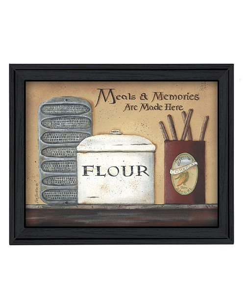 "Trendy Decor 4U Trendy Decor 4U Meals and Memories By Pam Britton, Printed Wall Art, Ready to hang, Black Frame, 19"" x 15"""