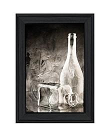 "Moody Gray Glassware Still Life by Bluebird Barn, Ready to hang Framed Print, Black Frame, 15"" x 19"""