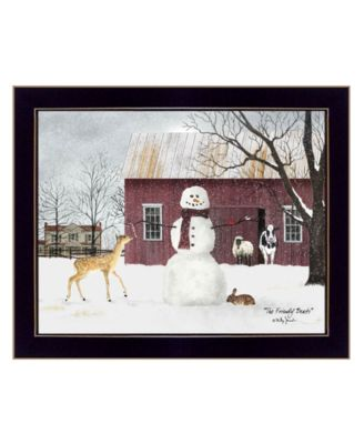"""The Friendly Beasts by Billy Jacobs, Ready to hang Framed Print, Black Frame, 18"""" x 14"""""""