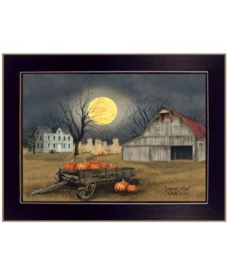 Harvest Moon by Billy Jacobs, Ready to hang Framed Print, Black Frame, 18