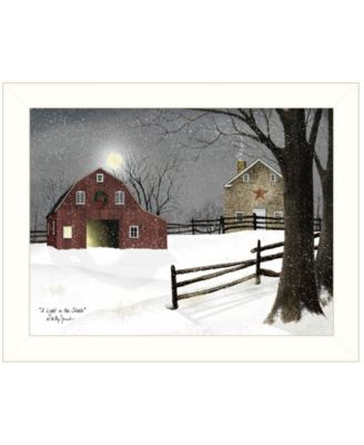 """Light in the Stable by Billy Jacobs, Ready to hang Framed Print, White Frame, 18"""" x 14"""""""