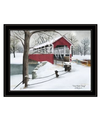"""Crisp Winter Evening by Billy Jacobs, Ready to hang Framed Print, Black Frame, 27"""" x 21"""""""