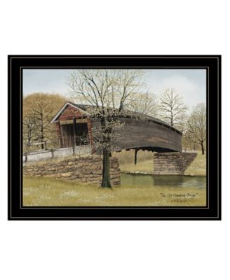 """The Old Humpback Bridge by Billy Jacobs, Ready to hang Framed Print, Black Frame, 27"""" x 21"""""""