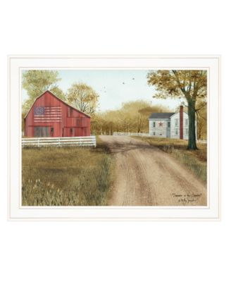 """Summer in the Country by Billy Jacobs, Ready to hang Framed Print, White Frame, 27"""" x 21"""""""