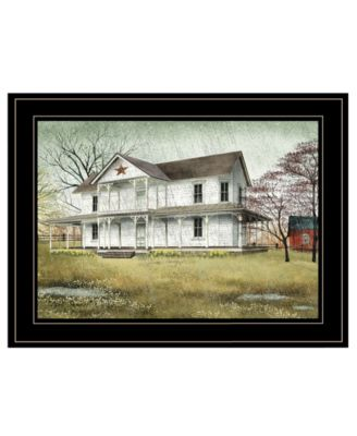 """April Showers by Billy Jacobs, Ready to hang Framed Print, Black Frame, 19"""" x 15"""""""